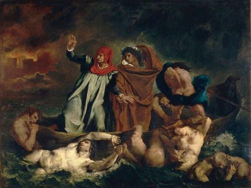 Eugene Delacroix, Barque de Dante