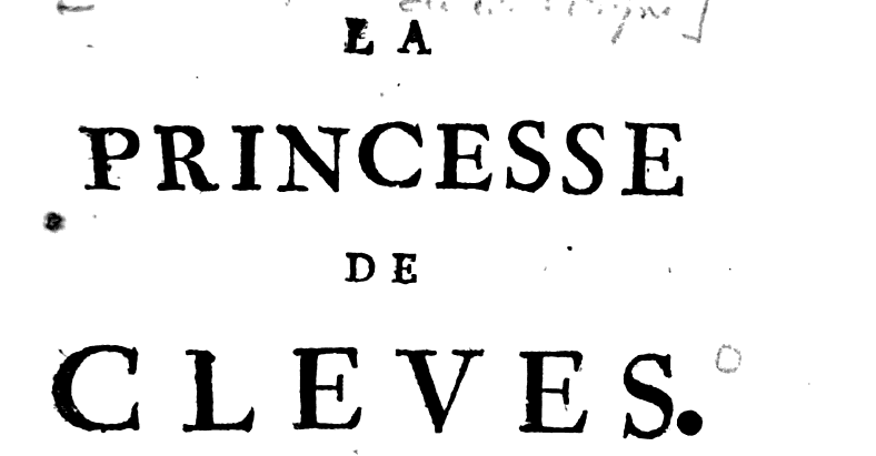 Princesse de Clèves 1752